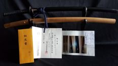 Japanese samurai sword signature of Kanesato Year 1600 with authenticity Tokubetsu Kicho paper . .