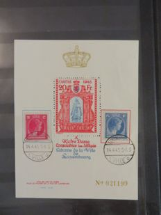 Luxembourg – Batch of stamps with postal items in an album