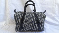 Christian Dior Trotter pattern Boston bag Canvas / Leather
