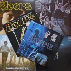 Nice set of 6 albums by The Doors, including Absolutely Live double album  + rare Live at the Hollywood Bowl