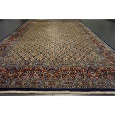 Beautiful hand-knotted Persian carpet - Moud with silk - 300 x 204 cm - made in Iran - medallion carpet