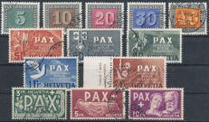 Switzerland 1945 - PAX - SBK 262/274