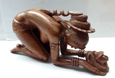 Beautiful wooden sculpture of nude woman, second half 20th century