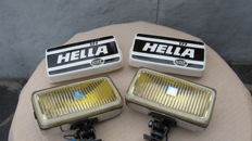 Hella 177 - pair of long range lights to suspend with cap - circa 1970