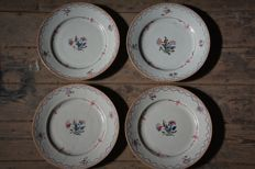 Matching set of 4 famille rose plates - China - 18th century