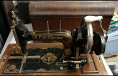 K series Frister and Rossman hand cranked sewing machine, Germany, ca.1920