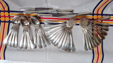 42-Piece Christofle silverware set, Crossed Ribbons pattern, Paris, France