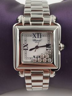 Chopard Happy Sport Classic Square Seven Diamonds, no reserve price!