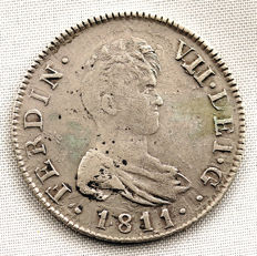 Spain - Fernando VII - 2 Reales in Silver – 1811 – Catalonia