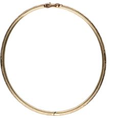 14 kt – Yellow gold tooled bangle – Diameter: