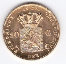The Netherlands - 10 guilder coin 1875, Willem III - gold