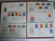 The Netherlands 1952/1953 Selection of FDCs - NVPH E8 up to and including E13