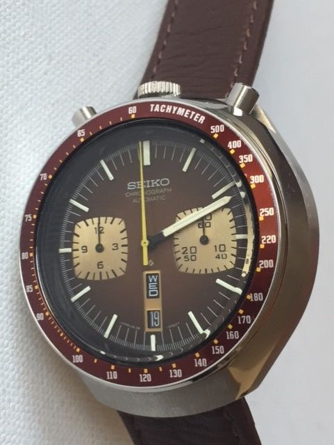 Seiko -Bullhead- Chronograph/Automatic- Brown Dial -Made in Japan