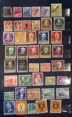 Germany Berlin 1948 - 1990 Collection of about 700 used stamps sets & singles in stock book