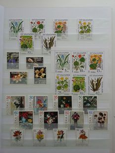 Flora 1960/2000 - Topical collection in stock book