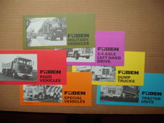 Foden - 6 folders 1976/77 Foden Trucks, all size 10 x 21 cm, folding out to A4,  mint condition
