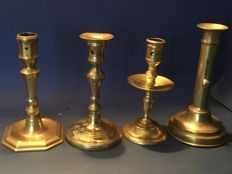 Four candlesticks from the 18th/19th century