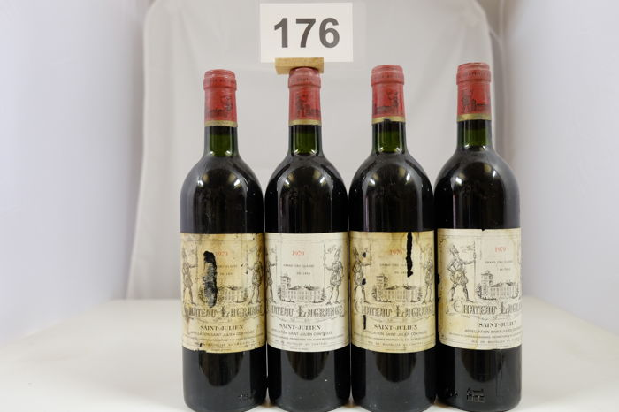 1979 Chateau Lagrange, Saint-Julien Troisieme Grand Cru Classe, France - 4 Bottles