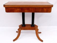 A Biedermeier cherrywood card/games table - Southern Germany or Austria - circa 1820