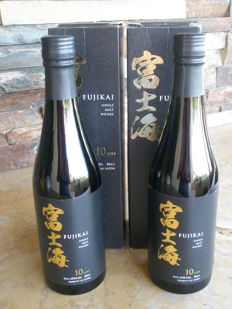 2 bottles - Fujikai 10 years old, limited edition 50cl