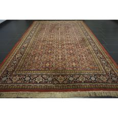 A magnificent handwoven Oriental carpet Indo Bidjar Herati 310 x 200 cm made in India in good condition
