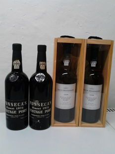 2x 1975 Vintage Port Fonseca's & 2x 1998 Vintage Port Smith Woodhouse - total of 4 bottles