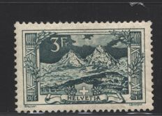 Switzerland 1914 - 'Mythen' Mountains - 3 FR - Unificato catalogue no. 142