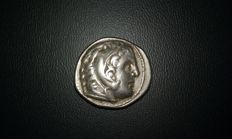 Greek Antiquity -- AR Tetradrachme of Alexander the Great (336–323). Minted in Amphiopolis during the reign of Cassander, Philip IV or Alexander (son of Cassander) in the years 315/10–294.