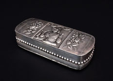 Antique silver box, XIXth c.