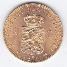 The Netherlands - 10 guilder coin 1898 - Wilhelmina - gold