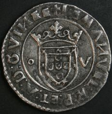 "Portugal – SILVER Tostão – ""O – V"" – ""GVIN"" – Smooth Circle on the Obverse – D. Manuel I – 1495-1521 – Lisbon – AG: 45.03 - Sublime Condition - Rarity"