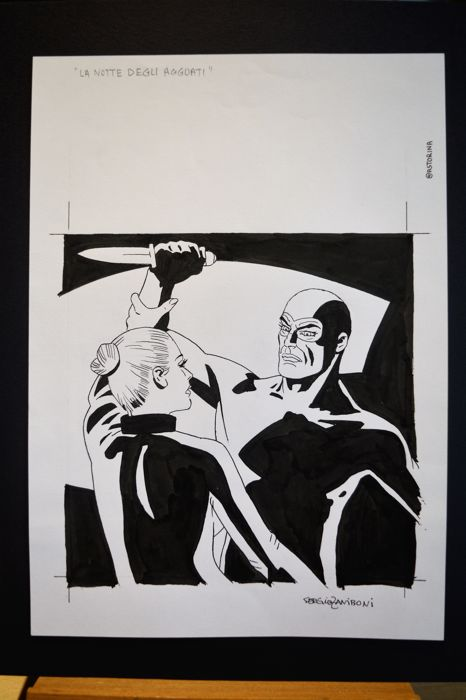 Zaniboni, Sergio - original cover for Diabolik no. 4, year XLIX (2010)