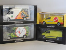 Minichamps - Scale 1/43 - Lot with 4 German vans / commercial cars: 2 x Mercedes-Benz Sprinter & 2 x Mercedes-Benz Vito