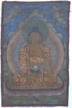 Thangka depicting the Shakyamuni Buddha – Tibet –  19th century