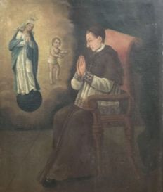 Spanish school from the 18th century - Apariciones de la Virgen y el Niño