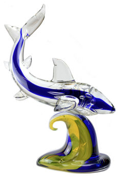Francesco Ragazzi (Eugenio Ferro & C.) - Shark sculpture (47 cm)