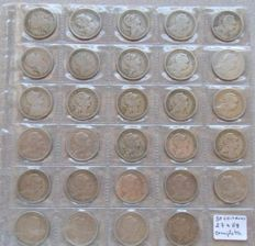 Portugal – Complete set of 50 centavos nickel silver coins dated 1927 to 1968 (29 pieces)
