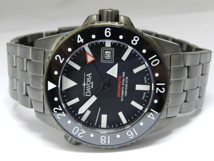 davosa gmt  Davosa Argonautic Dual Time GMT in mint condition Swiss made ...