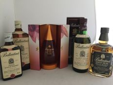 7 bottles - 5 Ballantine's & 2 old blends, including Purity, 17 years old, Gold Seal