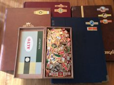 Huge collection of more than 4000 cigar bands in 4 sets and box completely full