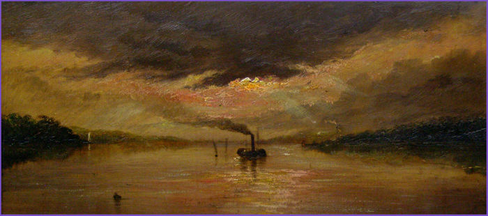 W.A.Smith (fl. 1885-1892) - Twilight on the Thames
