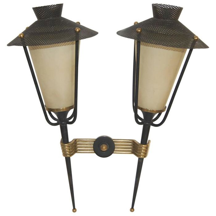 Arlus - Double arm wall lights. - Catawiki