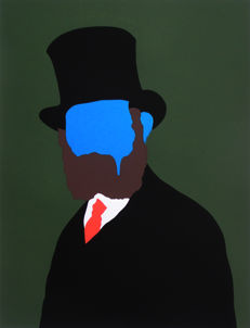 Zanda - Portrait of Manet (blue)