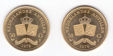 The Netherlands Antilles - 50 guilders 1979 Juliana (2 pieces) - gold