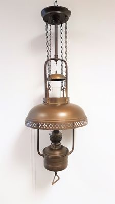 Metador Brenner large oil hanging lamp, Germany, first half 20th century