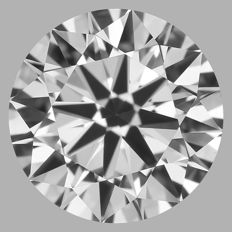 Round Brilliant   0.50ct   F VVS2    GIA- original image -10x #2206
