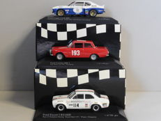 Minichamps - Scale 1/43 - Lot with 3 Ford models: Capri, Cortina & Escort