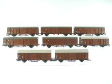 Roco H0-46408 - 8-piece, brown freight train of the DB [487]
