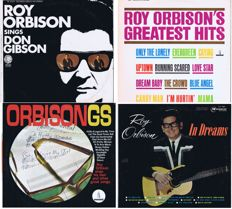Roy Orbison - Lot of 4 original LP's: In Dreams (1963), Orbisongs (mono 1965), Greatest Hits (1962) , Sings Don Gibson (1967). original items. made in USA