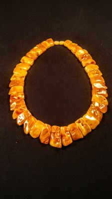Vintage 100% Natural Baltic amber necklace, length ca. 46 cm, 71 grams